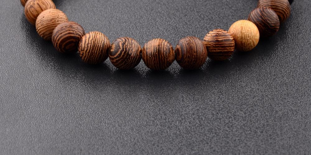 medallionshopElastic Natural Wood Beads Bracelet  Item Type: Meditation Bracelet  Material: Wood  Length: 17-19 cm (Elastic)  Package Includes: 1 x Bracelet  Features: Meditation, Bracelet, Beads, Wooden 0.00#deluxe #luxury #design Elastic Natural Wood Beads Bracelet