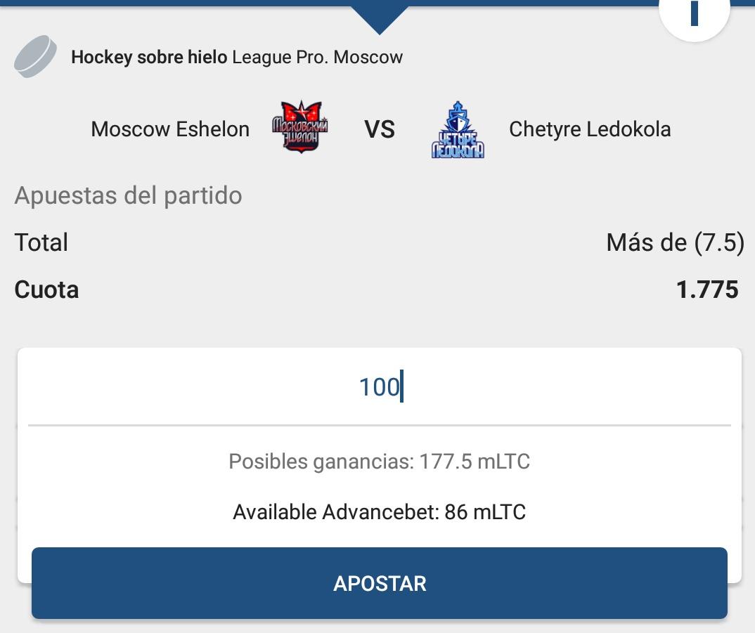 Next play  League Pro  Moscow Eshelon vs Chetyre Ledokola  Over 7.5 Goals  2U = 10% Bank  1.775  #GamblingTwitter #Hockey #HockeyTwitter #Russia #Rusia #LeaguePro #SportsPicks #FreePicks #IceHockeypic.twitter.com/qvwRWsUJXT