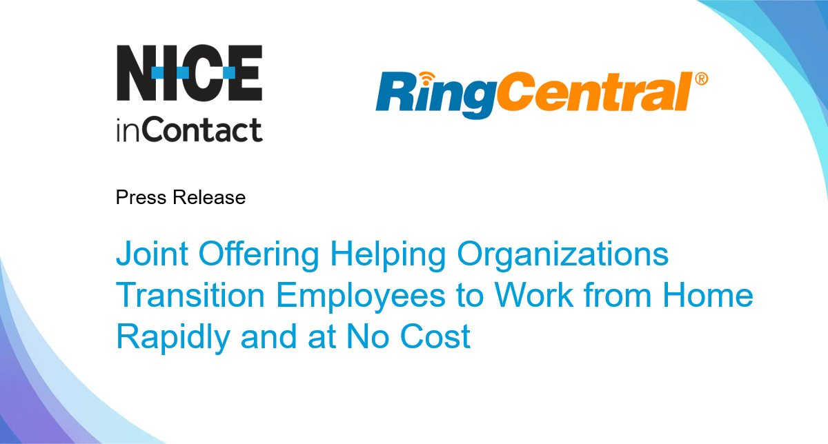 In partnership with@RingCentral, a leading provider of global enterprise #cloud communications, we are enabling organizations to rapidly transition their entire workforce, including #contactcenter agents, to #workfromhome. https://okt.to/K1FvfBpic.twitter.com/VOJQgfFvfi