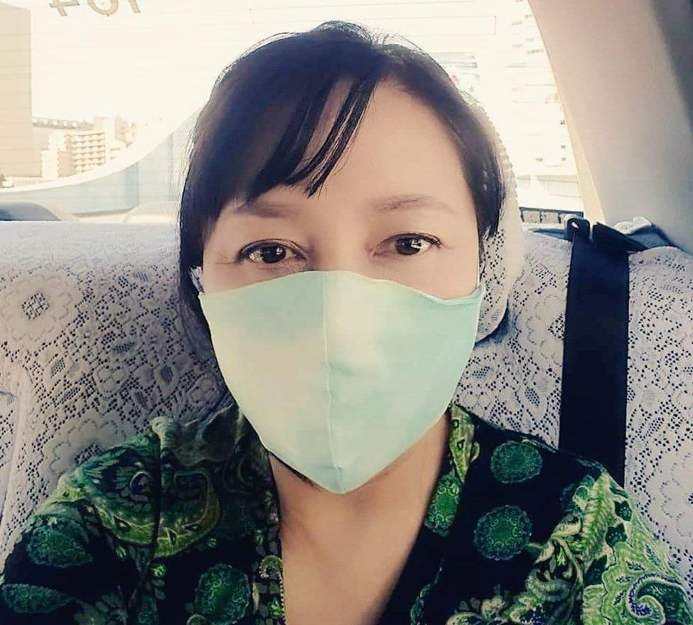 日本製の布マスク。着け心地最高。
