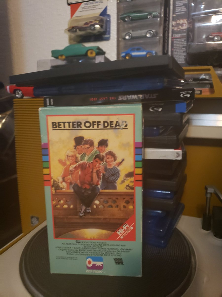 Now showing...Better Off Dead (1985) on glorious vintage VHS! #movie #comedy #80s #teenmovies #betteroffdeadpic.twitter.com/6mDTWY1bkk