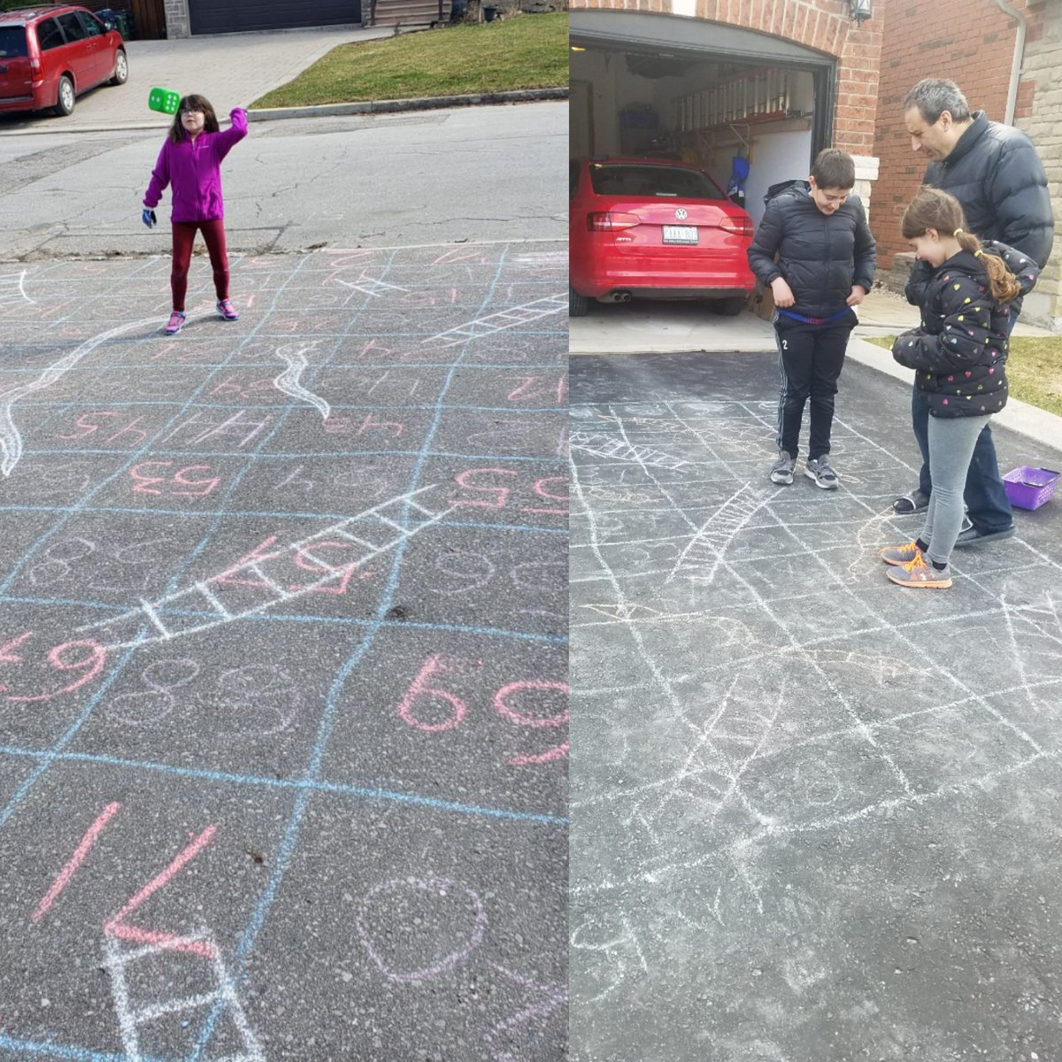 Ms Novello On Twitter When Your Student S Family And Your Family Test Out The Same Idea On The Same Day Sidewalk Chalk Snakes And Ladders Stedwardtcdsb Pstachiwtcdsb Ffmfit Https T Co Zi1lkxav57