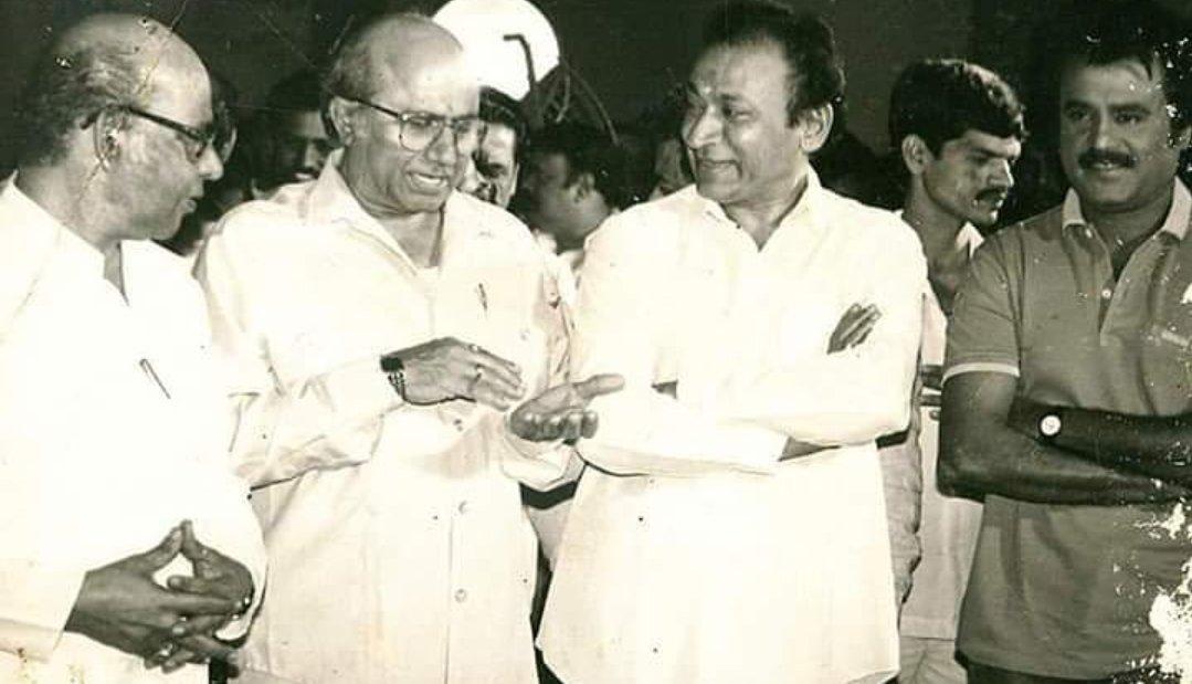 #ThrowbackThursday  #DrRajKumar Sir #Rajinikanth Sir #legends  @PuneethRajkumar @NimmaShivanna @RajiniFC