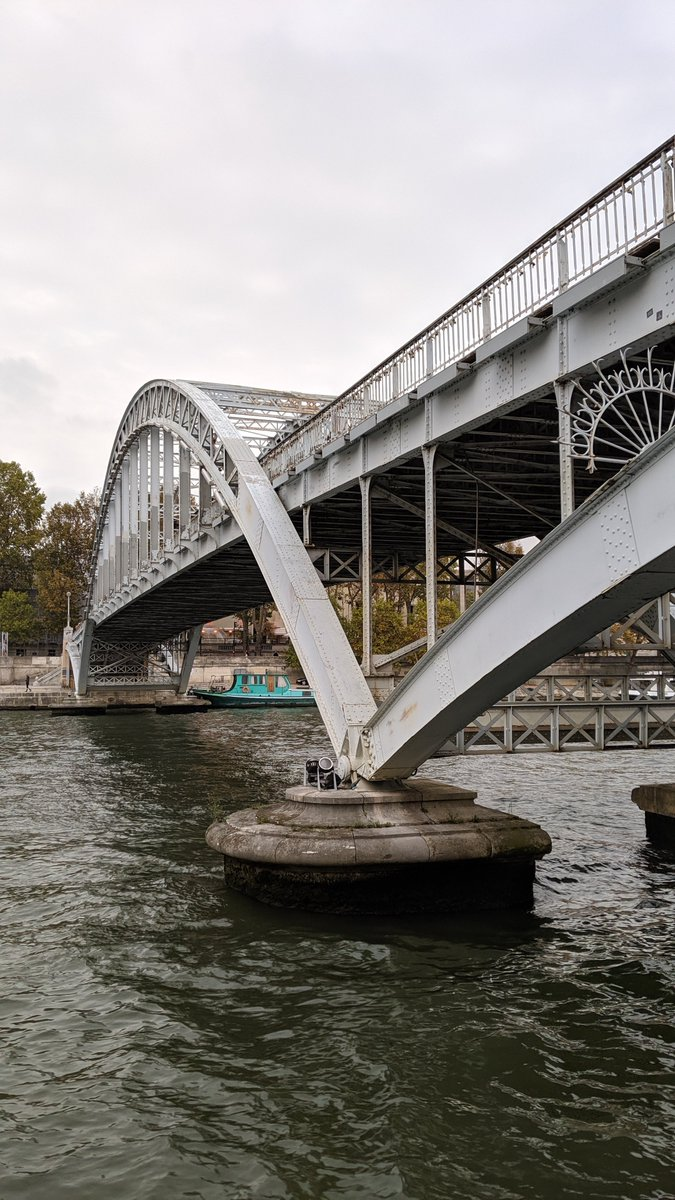 2019-10 Paris trip: Walking along the #Seine river heading East, I was soon under another #bridge. This time, it was the Debilly Footbridge which is a pedestrian only bridge.  https://en.parisinfo.com/transport/73157/Passerelle-Debilly … via @ParisJeTaimepic.twitter.com/XRu5Oef6Fq
