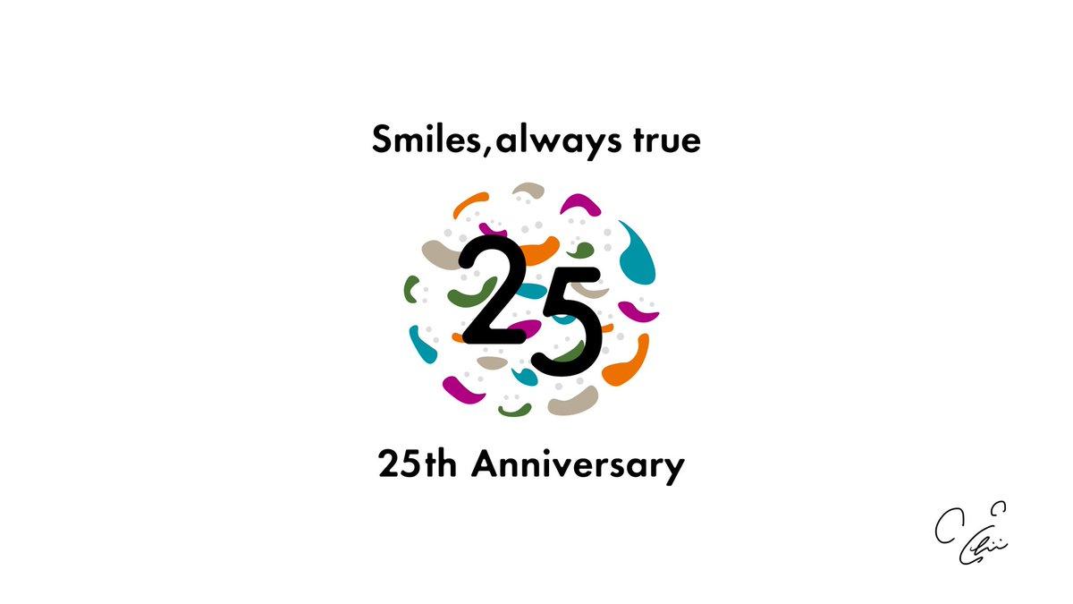"""この度、ディズニーのオフィシャルホテル、オリエンタルホテル東京ベイの25周年のロゴをデザインさせていただきました🙆♂️""""これからも優しい笑顔があふれる未来がくるように""""こんな時だからこそホテルの大事な1年間に少しでも花を添えられたら嬉しいな💐#ディズニー"""