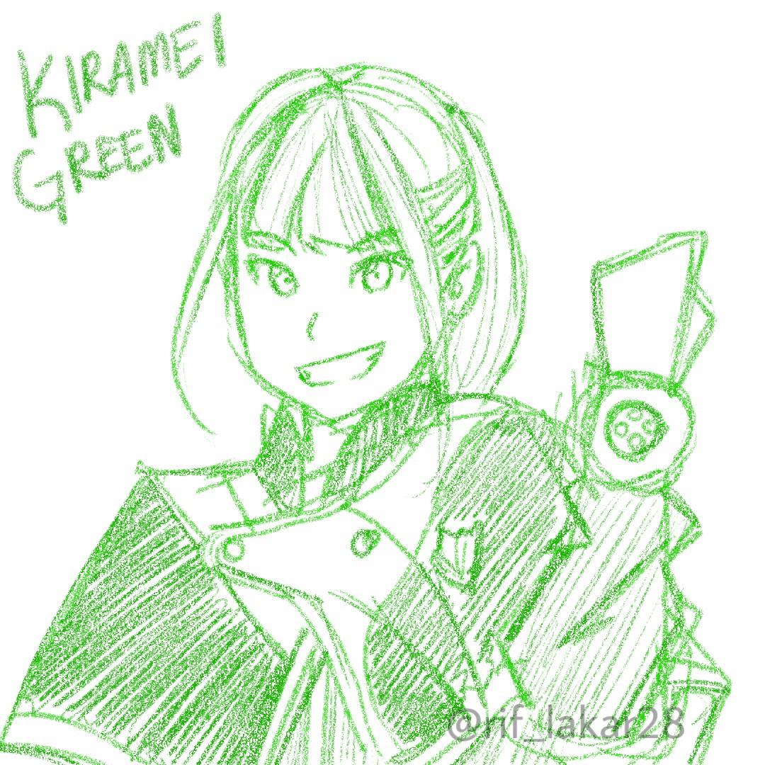 Kalau tambah ink mesti hancur😂  #kiramager #kirameiger #tokusatsu #supersentai #senahayami #kirameigreen #yumeshinjo #sketch #digitalart
