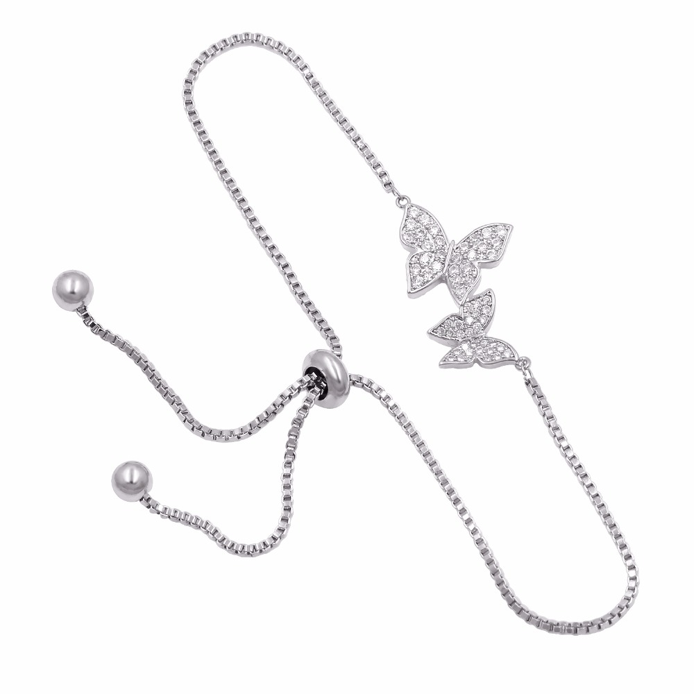 #design #likeforlike Women's Adjustable Strand Bracelet with Butterfly Charm