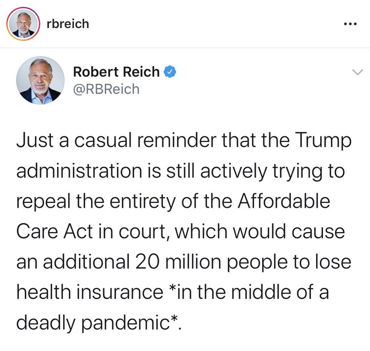 Callousness to the billionth degree. #TrumpGenocide #MedicareForAll #Medicare4All #Coronavirus #covid19pic.twitter.com/Ls7OZYAEzY