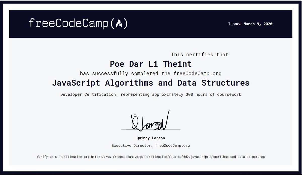 Yesterday, 𝐌𝐢𝐬𝐬𝐢𝐨𝐧 𝐜𝐨𝐦𝐩𝐥𝐞𝐭𝐞𝐝 #100DaysofCode as 1st round on 1st April, 2020. It gave me daily motivation to do study.  I completed some course and did practise on some algorithms @CodeSignalCom @freeCodeCamp #udemy pic.twitter.com/VPxrMBTcvh