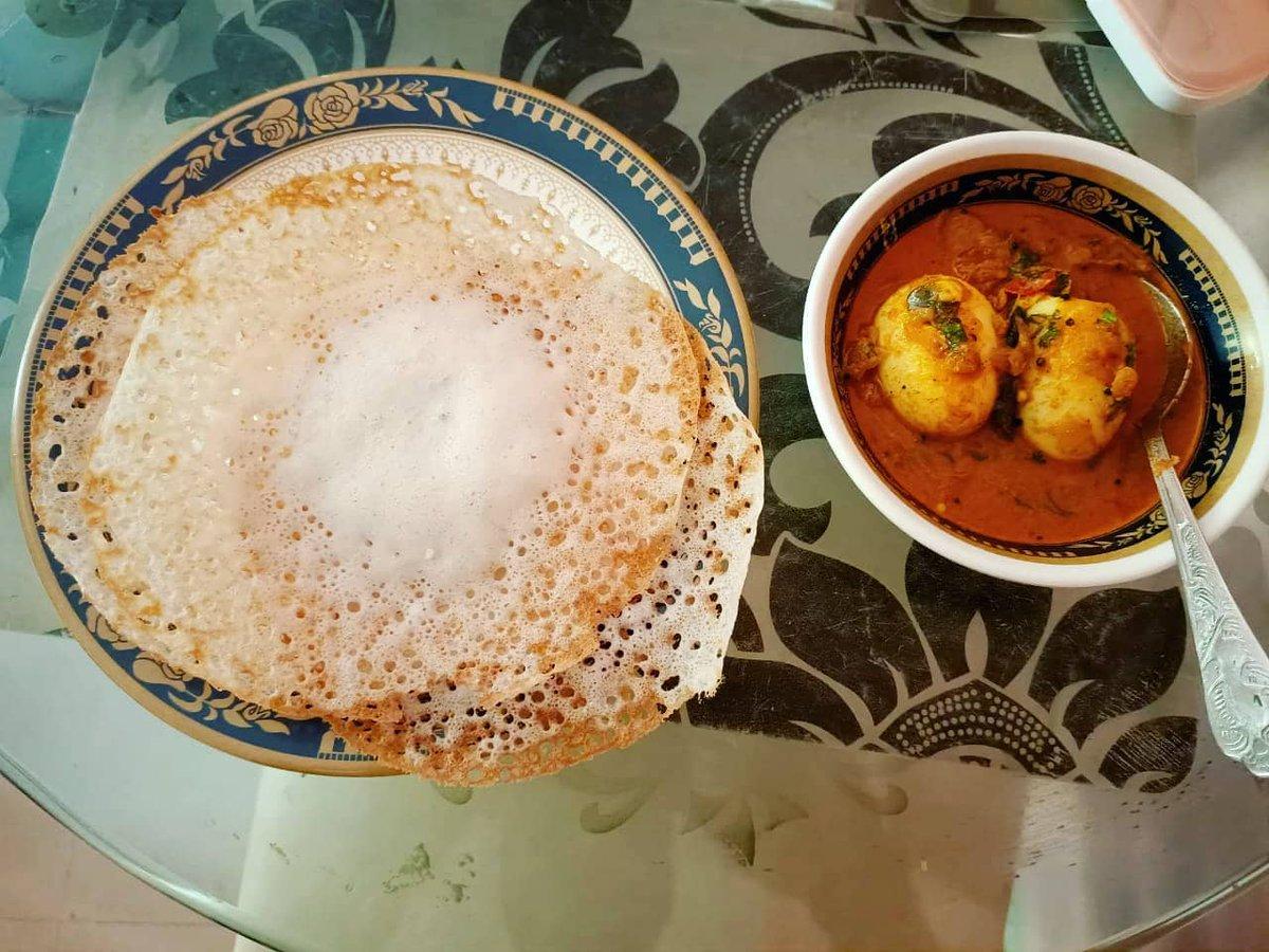 Appam with egg curry for breakfast.  Keep fooravelling.  #travelgram #foodblogger #nomnom #appam #stayathome #jantacurfew #foodiegram #foodlove #eggcurry #breakfastideas #breakfastofchampions #morningmotivation #morningvibes #instafood #foodtravel #fooravelpic.twitter.com/qiqfhqrqi7