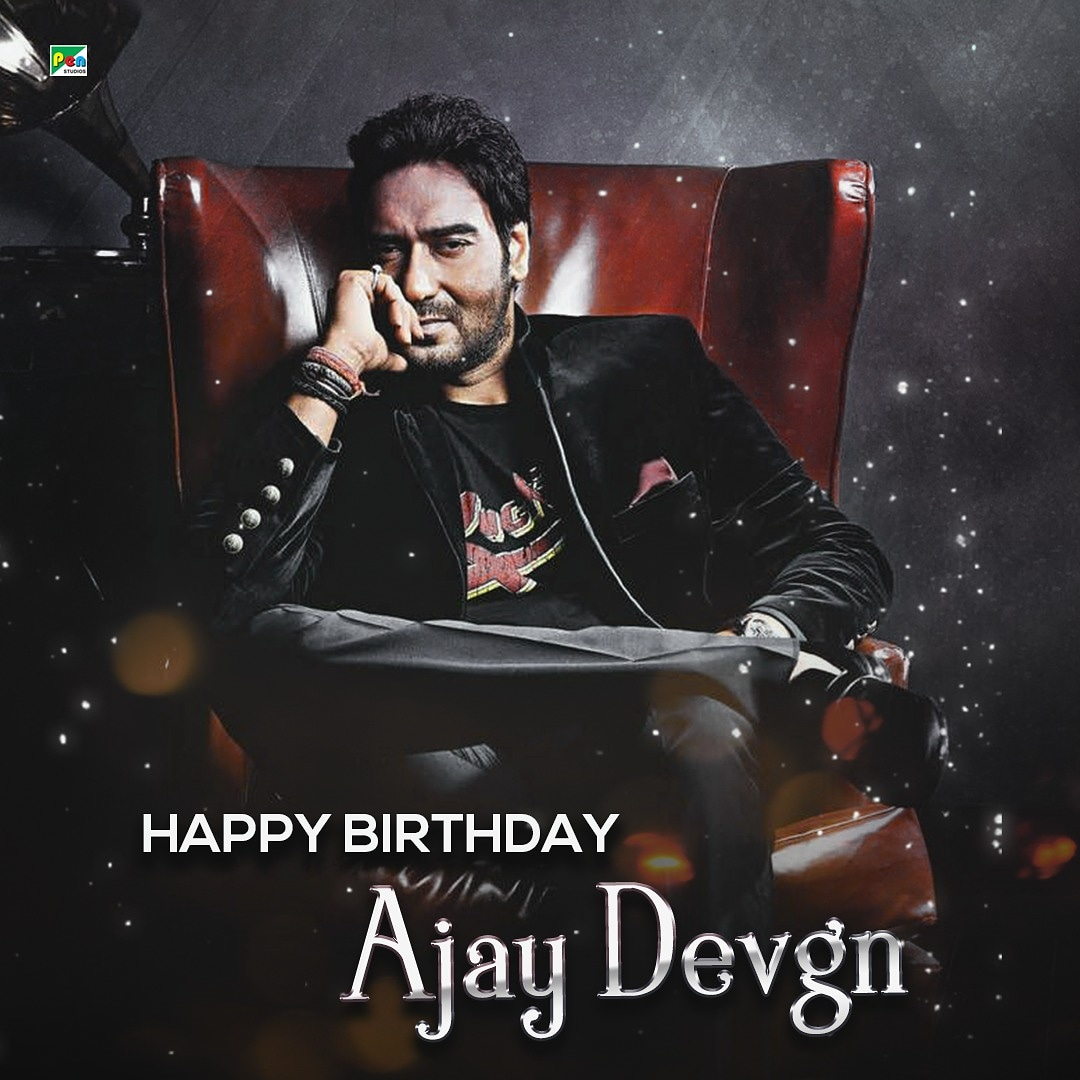 Pen studios wishes superstar @ajaydevgn a very happy birthday and a great year ahead. . . #celebration #happybirthday #stayhome #staySafe #socialdistancing #21dayschallenge