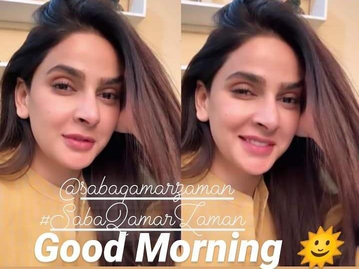 A very Good morning to my beautiful lady #SabaQamar n all my friends n followrs here pic.twitter.com/6LlLaVRMPR