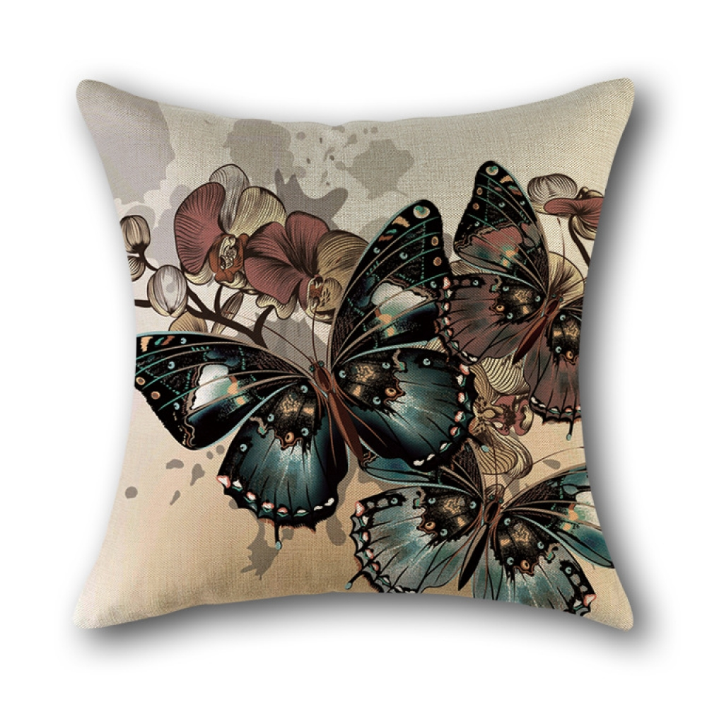 #homesweethome #diy Rural Style Colorful Butterfly Prints 45*45cm Cushion Cover Linen Throw Pillow Home Car Sofa Decorative Pillowcase pic.twitter.com/UULtCk0aWj