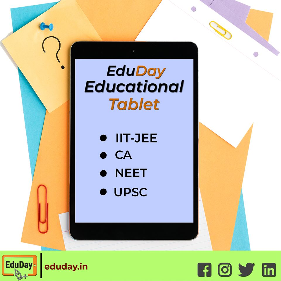 EduDay Educational Tablets especially designed for competitive exams such as IIT-JEE, NEET, UPSC, CA.  For more information contact on : - +91 7447712085 E-Mail :- product@eduday.in Visit:- http://www.eduday.in  #eduday #edudayindia #pune #india #tab #tabletspic.twitter.com/o8Ly5KALXN