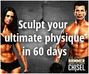 The Master's Hammer and Chisel #fitness routine from Beachbody, you can have access to Autumn Calabrese and Sagi Kalev body #sculpting routines with #workouts that are so effective, you'll see as you build your awesome body in just 30 to 40 minutes a day""