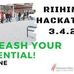 Image for the Tweet beginning: Huomenna starttaa Riihimäki hackathon, diginä
