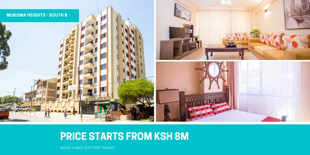 Mukoma Heights Apartments are located in the heart of Nairobi, close to all necessary social amenities that you may require.  To book a FREE site visit call 0781444333/ 0785111333 or email us at sales@turacoproperties.co.ke today!  #propertyforsale #homeownership #realestatepic.twitter.com/M5Y7vNuUa8