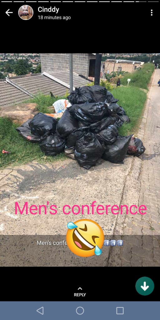Lol guys we need to clean up, women really think we're trash 😂😂😂😂😂😂😂😂  I died 🤣🤣🤣  And the award goes to...........CoronaFuckenVirus #COVID19 MEN ARE TRASH #DateMyFamilly #JustinsIGLive Zeze Cassper #Twitter30Seconds #CassperStayAtHomeGames #CoronavirusSouthAfrica