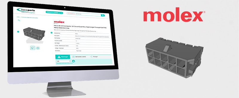 @MolexConnectors has partnered with TraceParts to publish its Micro-Fit product range on the  website.  Check out the Molex catalog here:  Or find out more:   #cad #3dcad #traceparts