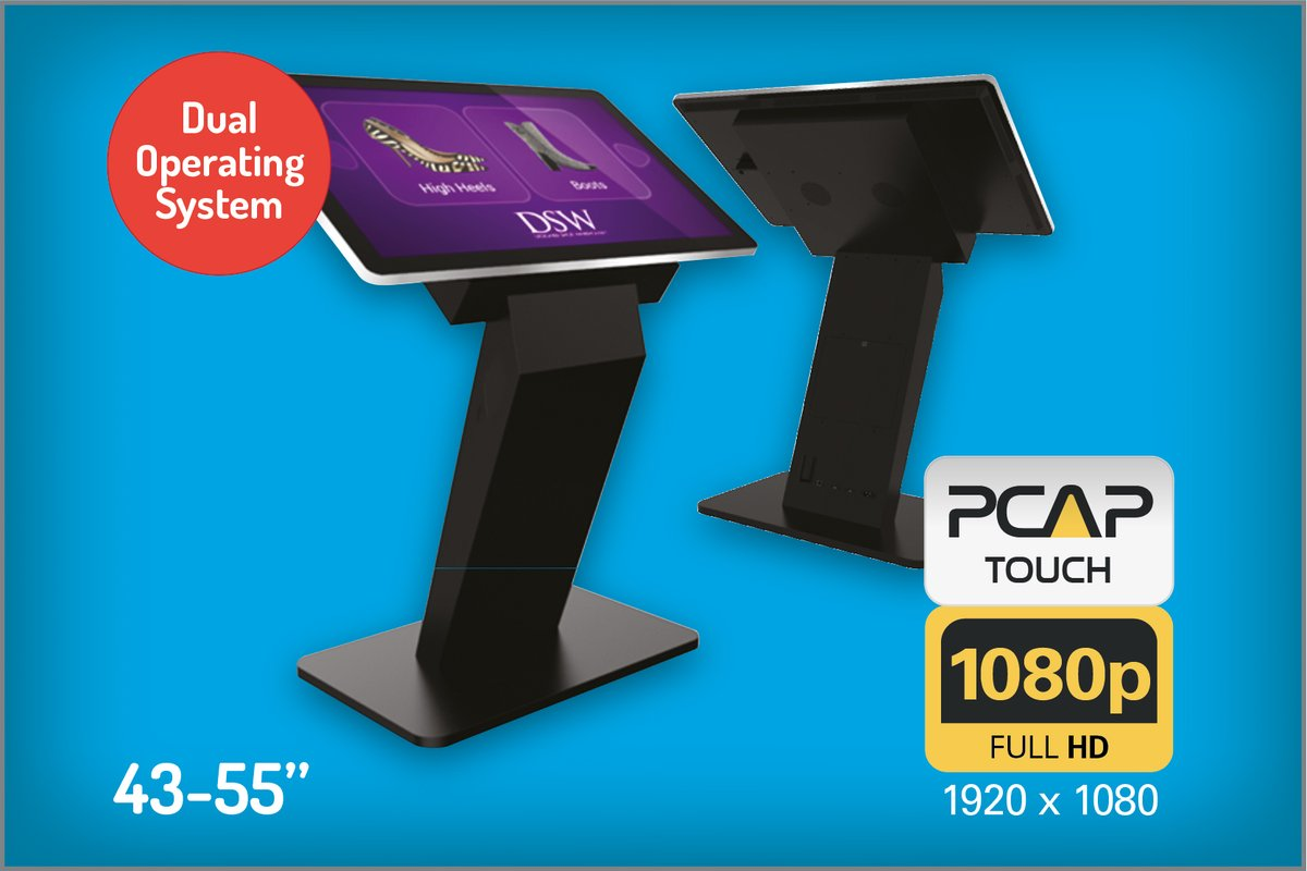 PCAP Touch Screen Kiosks With Dual OS (43 – 55″)  This all-in-one interactive display combines the best in PCAP Touch Screen technology with a stylish and secure kiosk.  https://ycr.co.uk/pcap-touch-screen-kiosks-with-dual-os/… #pcap #android #windows #dualos #kiosk #touchscreen #digital #mediaplayer #advertisingpic.twitter.com/VhZBmxJgBg