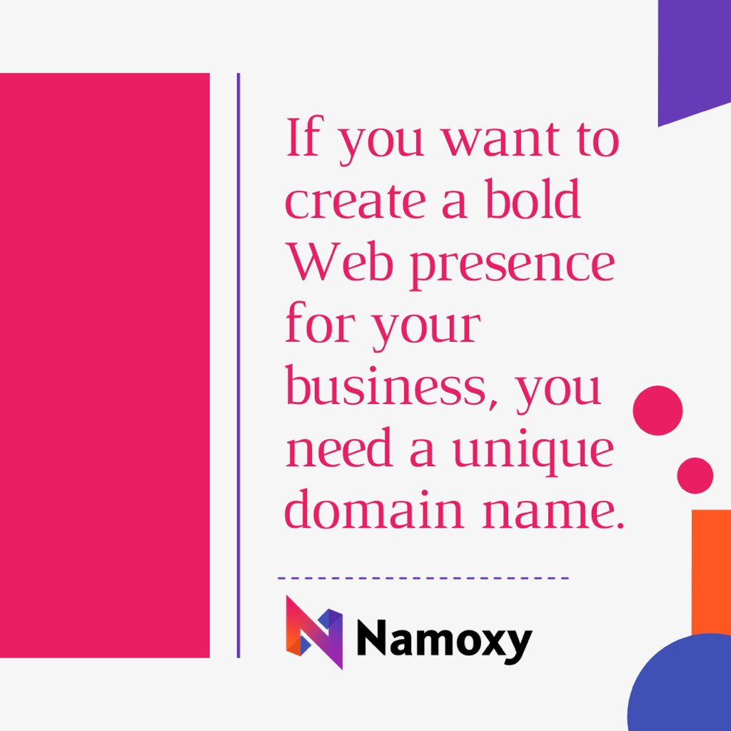 """""""If you want to create a bold web presence for your business, you need a unique domain name."""" . . #brand #brandnames #uniquenames #domainnames #brandable #brandabledomain #brandabledomains #businessnames #businessname #domaininvestor #domaininvesting #domaininvestors #namoxypic.twitter.com/0WVTc7hTIw"""