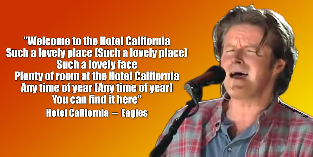 "There she stood in the doorway! I heard the mission bell and I was thinking to myself, ""This could be Heaven or this could be Hell!"" #HotelCalifornia #Eagles #TheEagles #RockMusic #Rock #The70s #70sRock #70sMusic #PopRock #PopMusic #ClassicRock #Guitar #Musicians #Music #Lyricspic.twitter.com/5XDhCQXn3U"
