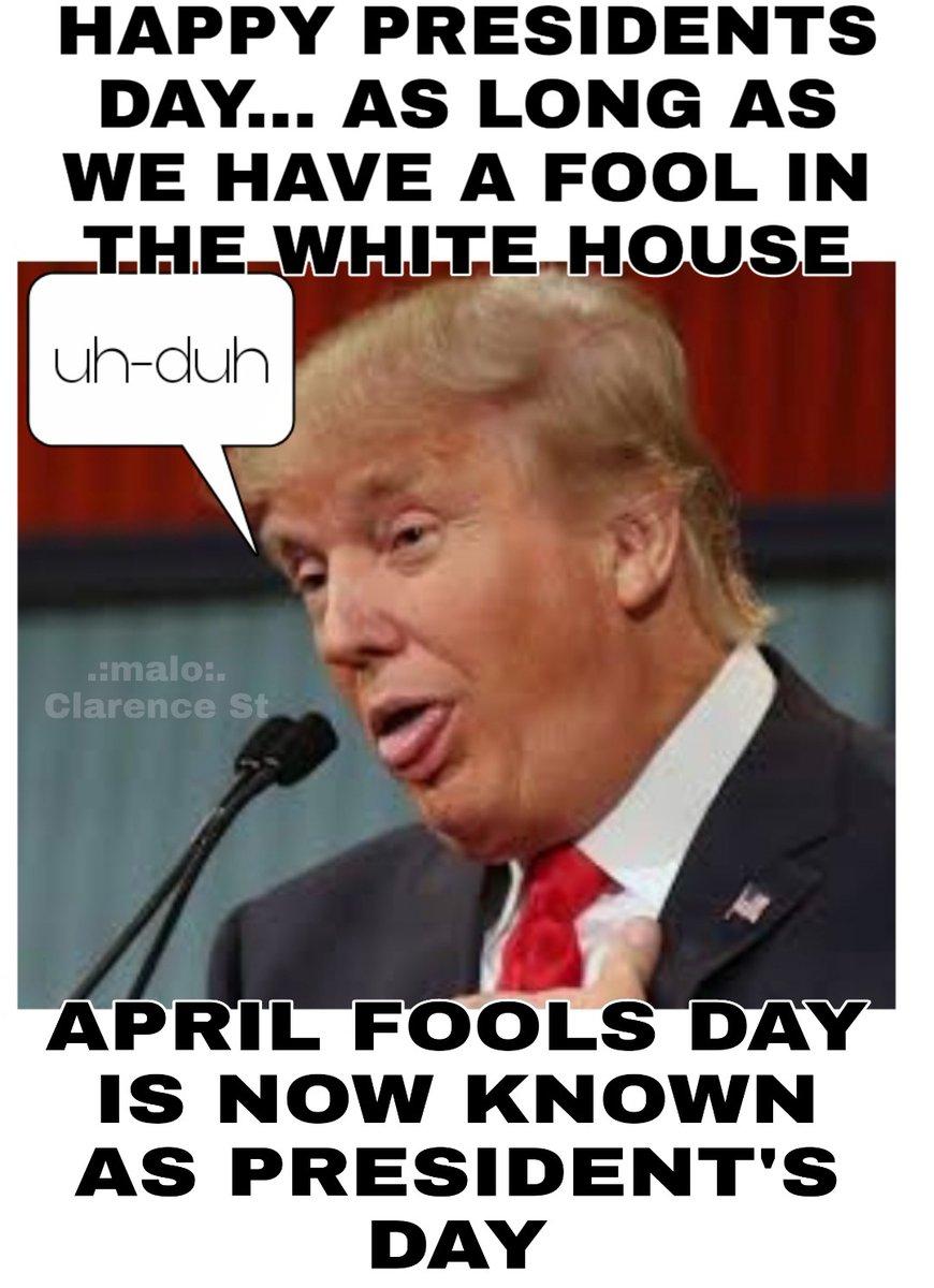#fucktrump #resisttrump #ImpeachTrumpNow #BlueWave2020 #AprilFools  #TrumpResignNow #ResignTrump #DerangedDonald #AprilFoolsDay  #DelusionalDonald #BooTrump #presidentsday #fool #foolsday #foolinthewhitehouse #newpresidentsday @realDonaldTrumppic.twitter.com/n2SYodIkdD