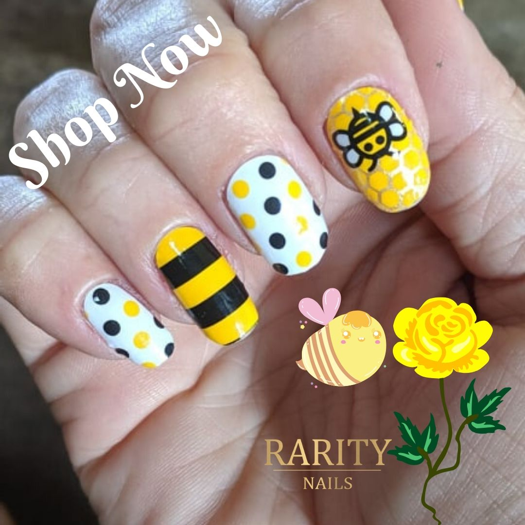 Manicure your nails at home with Rarity Nails. Buy 8 sets, select 1 FREE!  $5 Bee Kind https://raritynails.com/shop/nail-wraps/bee-kind/?sp_name=miramk …  #RarityNails #NailWraps #BlueshoreBoutique #NailStrips #Nailfie #DIYManicure #SpringNails #Beauty #BeesABuzzinpic.twitter.com/YDC0tPHTEW