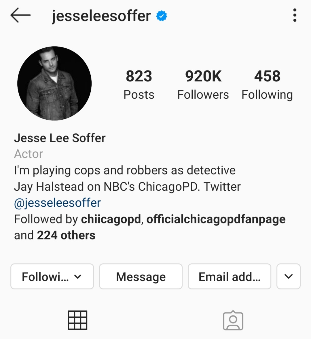 he still deserves that 1M 🙂 #ChicagoPD #getjessetoonemillion