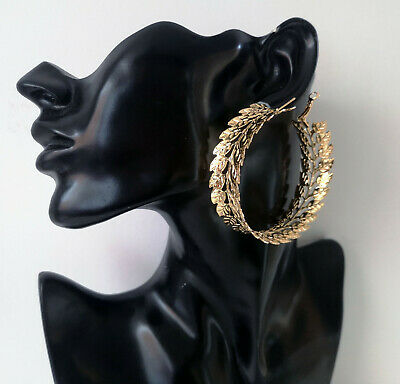 Gorgeous GOLD tone extra wide cut out leaf design big hoop earrings - 6cm NEW http://dlvr.it/RT1RBFpic.twitter.com/CL3mZhfycJ