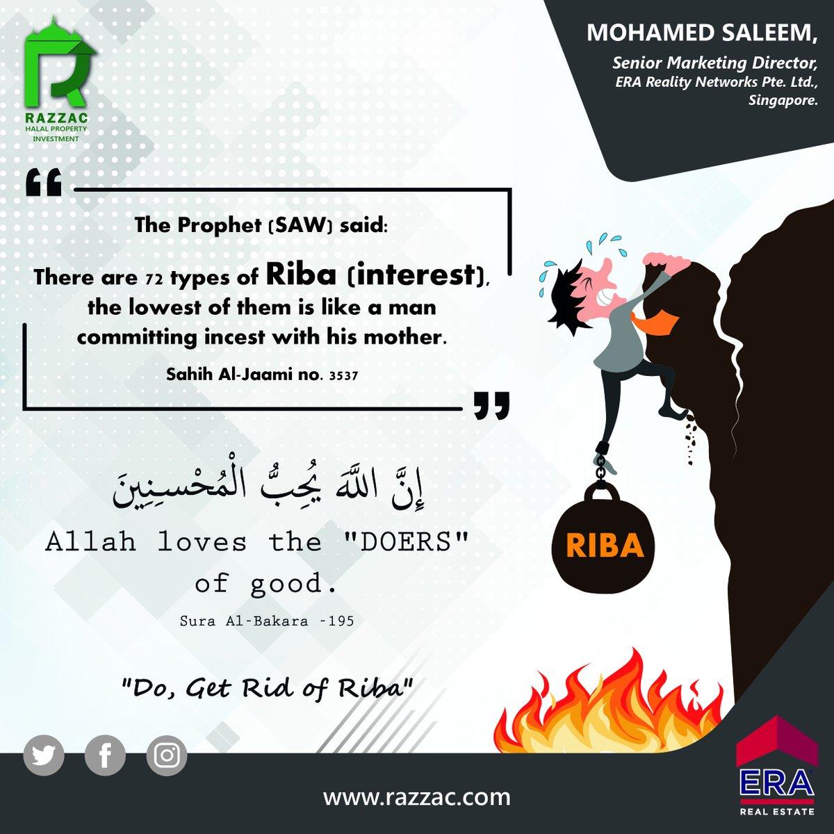 RAZZAC HALAL INVESTMENTS  Do, Get Rid Of Riba  #halal #halalinvestment #halalinvestments #islam #islamic #islamicquotes #islamicinvestment #property #propertymanagement #realestate #realestateagent #singapore #malaysia #singaporerealestate #malaysiarealestate #islamicrealestatepic.twitter.com/Fh6PyhbpMU