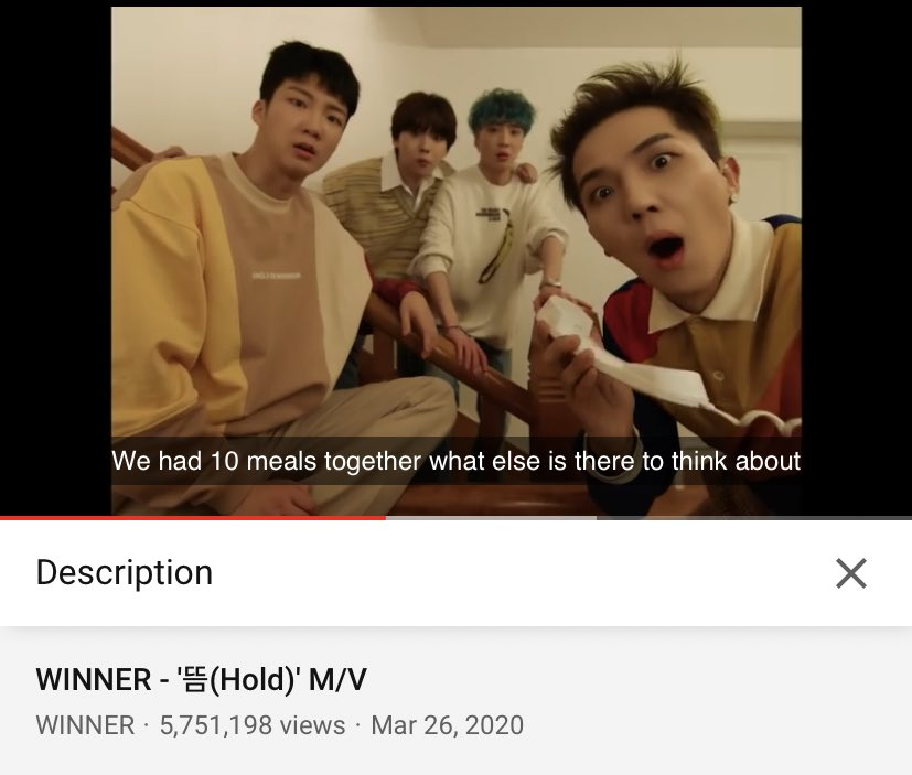 "[STREAM]   Hello ICs!! Don't forget to stream ""HOLD"" in all music platforms and on YouTube!! Let's try to our best push for   8M views?? Maybe it's possible to get to 10M views by the 9th!! Anything is possible right ICs? 💙💙💙💙  #WINNER #위너 @yginnercircle  #HOLDWINNER"