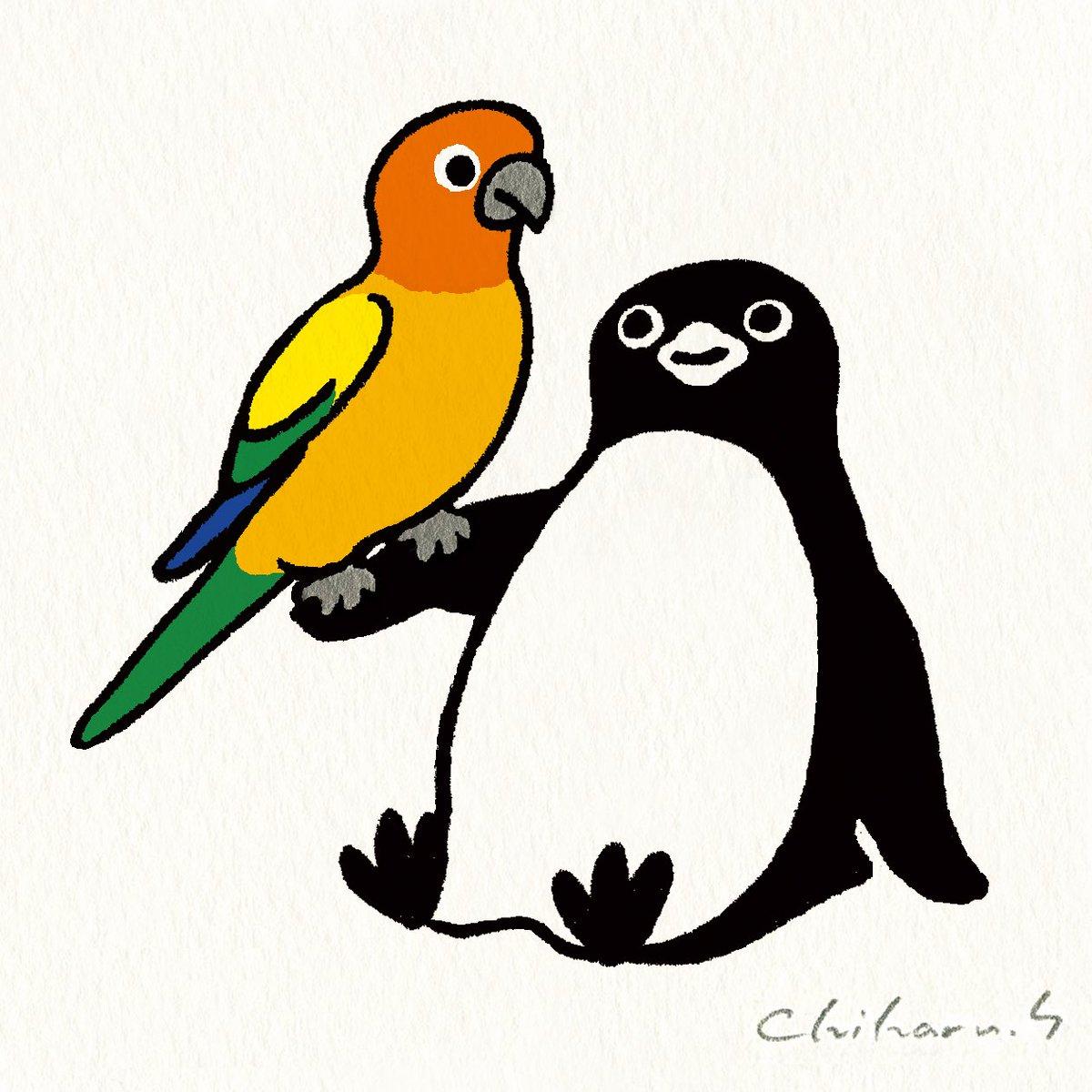 4月後半に予定していた展覧会が、新型コロナの影響で延期になりました。「ペンギン百態Ⅳ-空と海の鳥たち」というテーマでペンギンがいろいろな鳥さんと絡んでいる絵を100枚描いてます。家にこもって、絵も描いて、コロナとも闘う、一石三鳥だ!#家にいよう