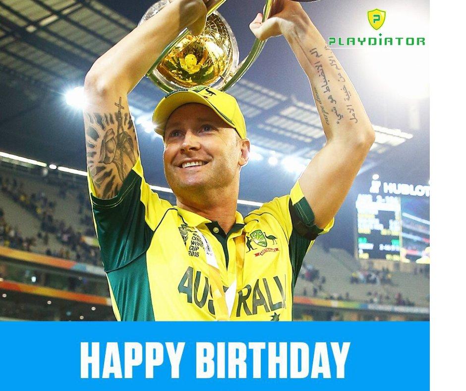 8643 Test runs at 49.10  7981 ODI runs at 44.58  World Cup winning captain in 2015  Happy birthday to Australia great Michael Clarke! #Cricket #australia #Playdiatorpic.twitter.com/TuaQv6VdYv