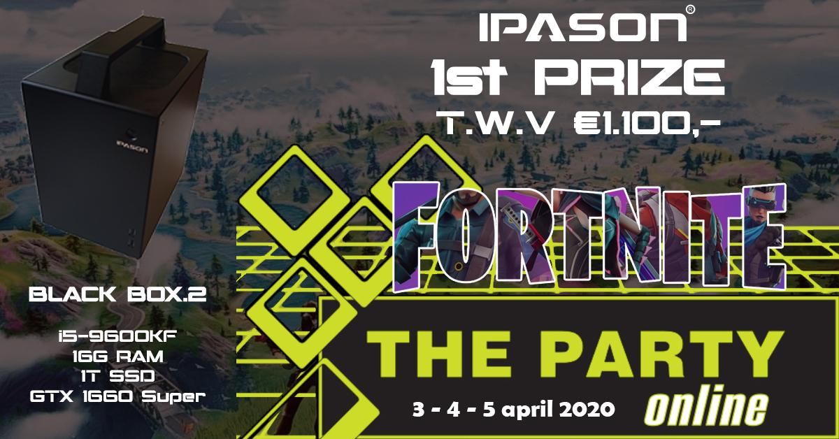 Win een #IPASON #BLACKBOX.2 t.w.v. €1.100,- tijdens #thepartyonline op 3,4,5 april. #Fortnite #gaming #ikblijfthuis #PCGAMING #fortnitetournament https://tp2020.lanergy.eu/c498/Fortnitepic.twitter.com/h5UR1oL9SX