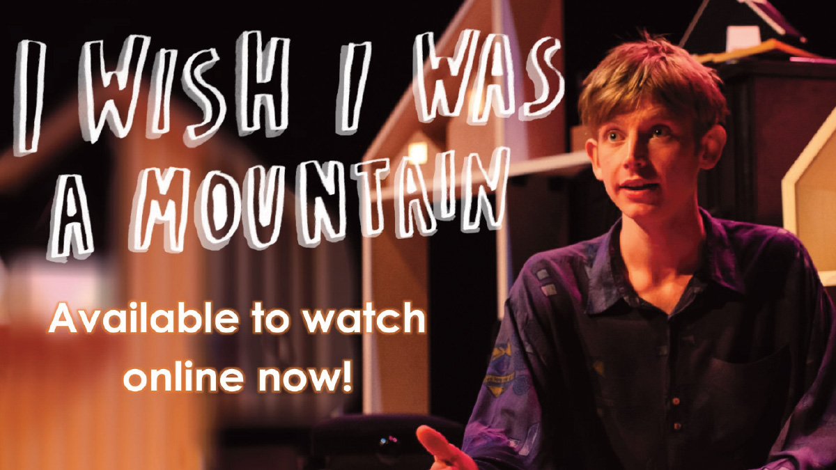 Spark Festival favourite 'I Wish I Was A Mountain' written and performed by the amazingly talented @tobythompson__  is now available to watch online, for free! https://t.co/TWj163zY4s @theeggbath @tl_theatre #familytheatre