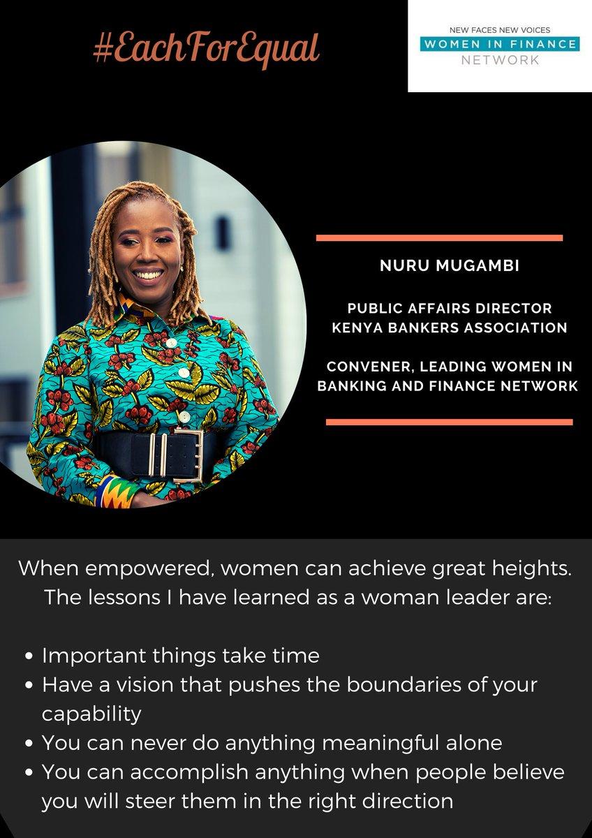#eachforequal2020   #eachforequality   #celebratingwomenleaders   #genderequalworld   #equalitymatters   #generationequality   #lessonslearned   #purposeful   @NuruMugambi   @KenyaBankerspic.twitter.com/i17VbtGAOX