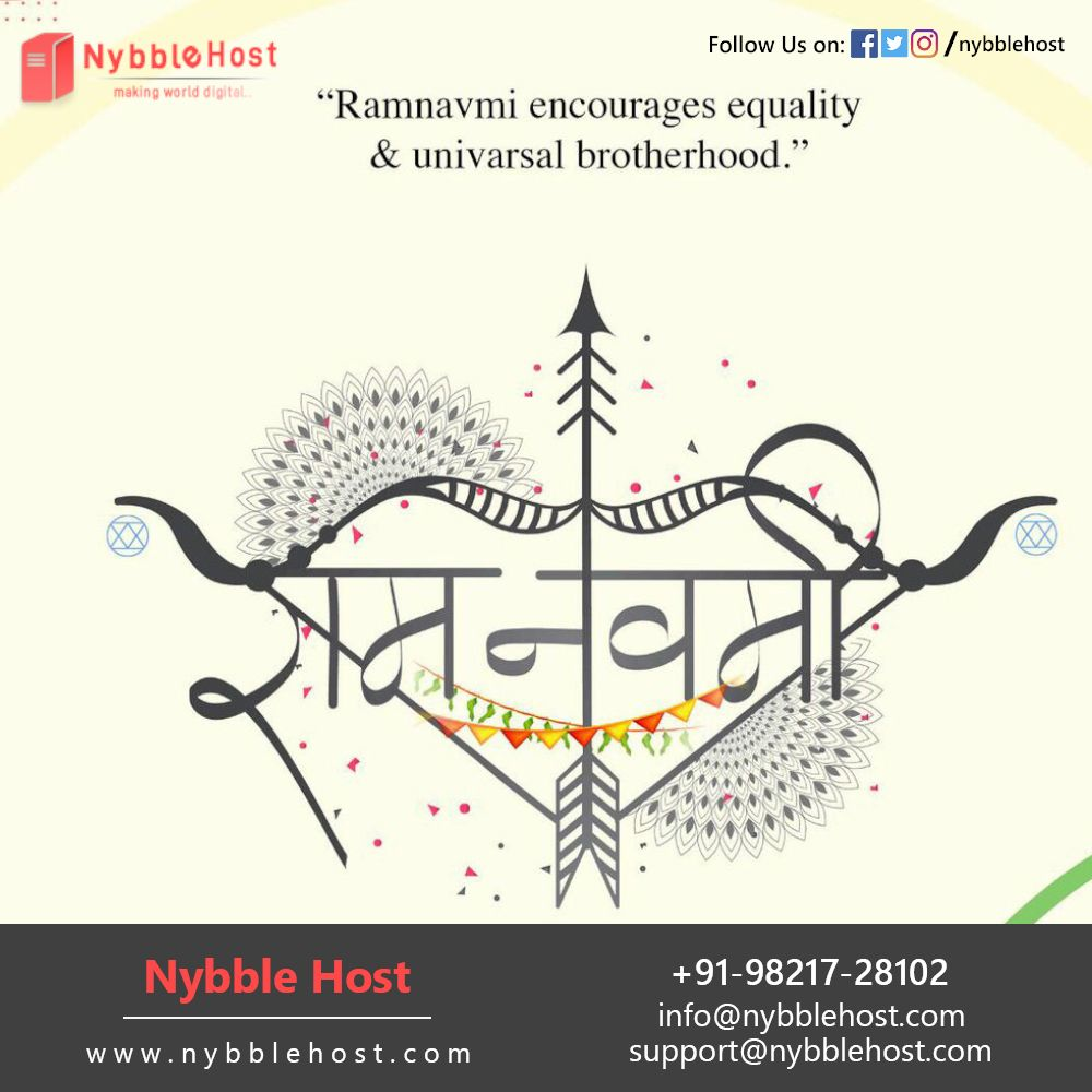 Ramnavmi encourages equality & universal brotherhood. Happy Ram Navmi 2020. Know More: https://bit.ly/39KyYpi Nybble Host | 098217-28102 | info@nybblehost.com | https://www.nybblehost.com #HappyRamNavmi2020 #Domain #DomainRegistration #WebHosting #SharedHostingpic.twitter.com/omvTcHjnNH