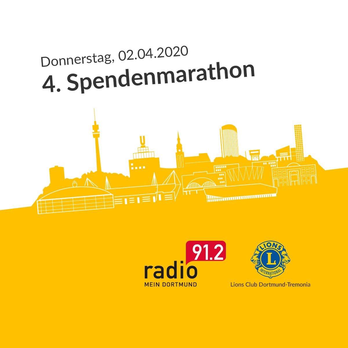 Mit dem Dortmunder Spendenmarathon unterstützen wir vier tolle soziale Projekte aus Dortmund. Eure Spenden kommen zu 100% den Einrichtungen zu Gute. Alle Infos unter http://www.radio912.de/spendenmarathon #wirfürdortmund #dortmunderspendenmarathon #jedespendehilft #lionsclubpic.twitter.com/lID3j9AOYp