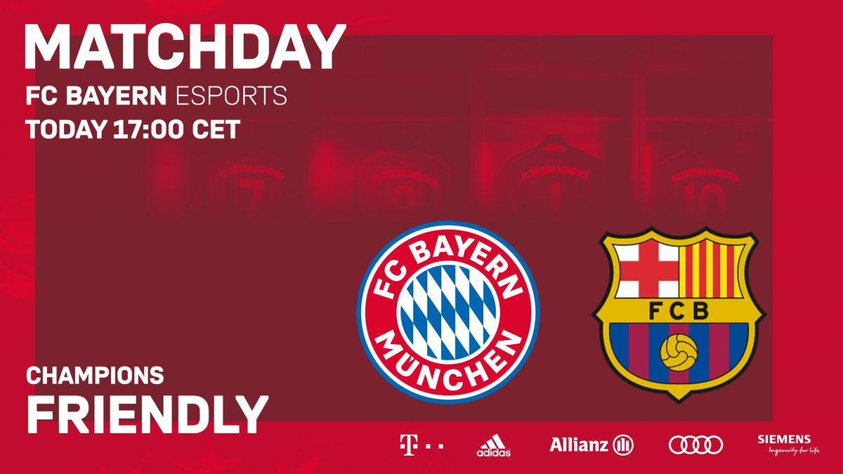 La Bestia Negra 🆚 FC Barcelona: Die Geschichte wird fortgesetzt. 🙌  📺 Heute 17.00 Uhr  ⏩ http://youtube.com/fcbayernesports  🔴⚪ #packmas #fcbayernesports #FCBayern #esports