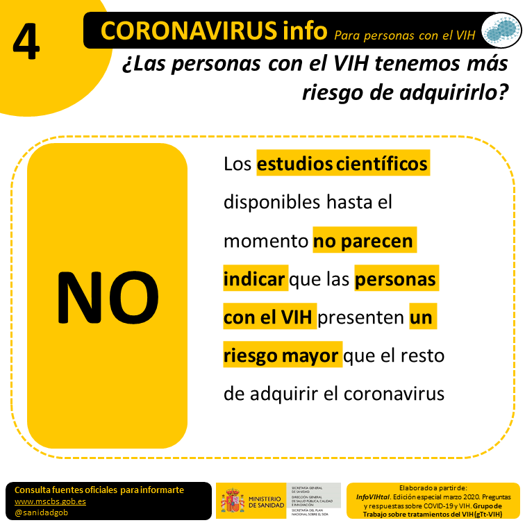 test Twitter Media - 💛El Plan Nacional sobre el Sida del @sanidadgob ha editado unas infografías informativas sobre la #Covid19 dirigidas a personas con el #VIH  [HILO] https://t.co/ENJlH9xhHo