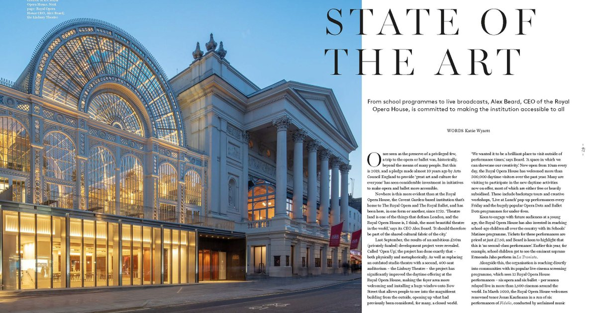 The @RoyalOperaHouse is making the institution accessible to all. Find out how in Skibo magazine:  https://www.carnegieclub.co.uk/magazine.html #skibo #royaloperahouse  The Carnegie Club is currently closed, but as you #stayathome we will continue to share the magic of Skibo with you via Twitter.pic.twitter.com/6pjbnhY7sY