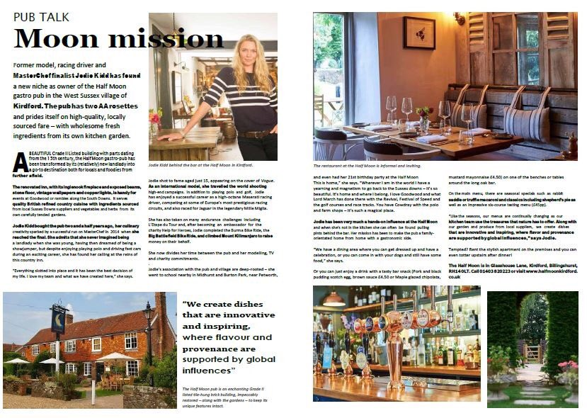 Please stay safe and stay in your house. Over the coming days we will be posting features from our current magazine, today we have Jodie Kidd and her award wining pub the Half Moon in Kirdford. Please enjoy and stay safe! https://issuu.com/housepartnership.co.uk/docs/house._magazine_single_page_final_compressed?fbclid=IwAR2ZU9ng_f1SCxKoancy5XmKf1yOwEMzjqTa4DCC4IEW8KFJfWhEnCy6EG… http://housepartnership.co.ukpic.twitter.com/9wvzWM2EB5