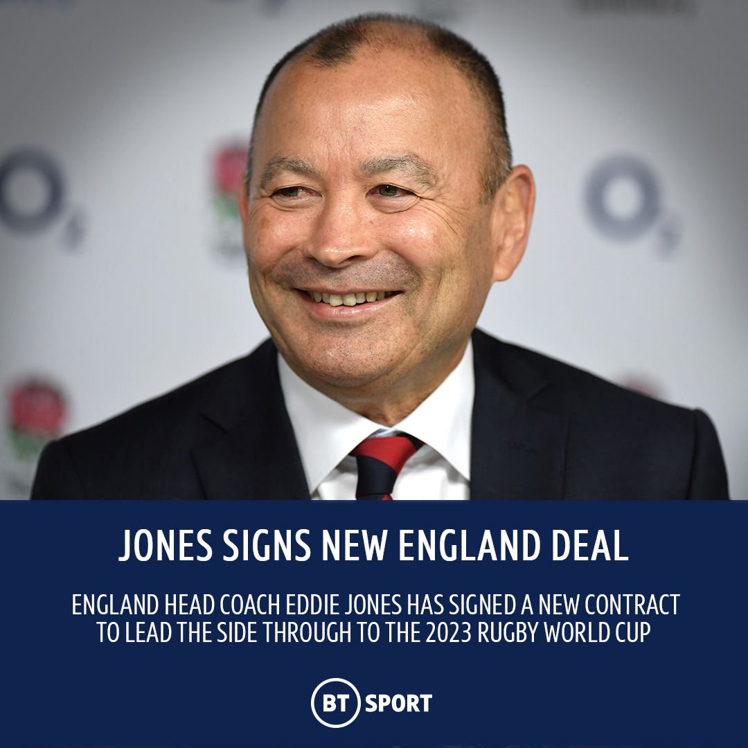 "test Twitter Media - - 54 matches - 42 wins - One World Cup final  Eddie Jones has signed a contract extension to lead England through to the 2023 Rugby World Cup in France 🌹  🗣 ""We want to be the team that is remembered as being the greatest team the game has ever seen."" https://t.co/XGcgFBmQyn"