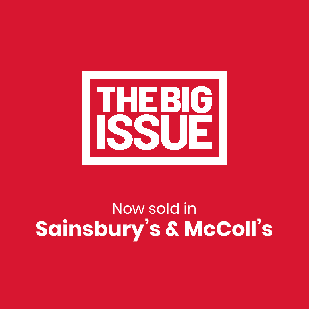 For the first time, The Big Issue is now available to buy in stores and online at @sainsburys and from 1,300 @Mccolls shops. While our vendors temporarily can't sell on the street, we're finding ways to ensure you can buy a copy and support them. bit.ly/tbiinstore