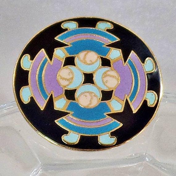 Eskimo Brooch. #Vintage Brooch. Cloisonne Brooch.  Barbara Lavallee Brooch. Native Alaskan Pin. Alaska Brooch. #Jewelry for Women. waalaa #antique #shopping #jewellery #gifts #wedding #etsypic.twitter.com/vzOPnXW4Uk
