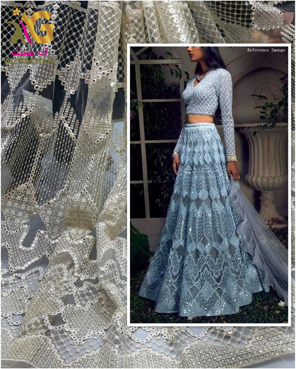 "Get this now 😍 Fabric Type: Net Embroidery Color: Dyeable Width: 54"" inch Price: 11 BHD per meter MOQ: 14 Meter Dealing in wholesale & for Boutique use also! #fabrics #embroidery #Bahrain #fashion #like #follobackforfolloback #l4l #riffa #boutique #f4f #l4f #boutique"