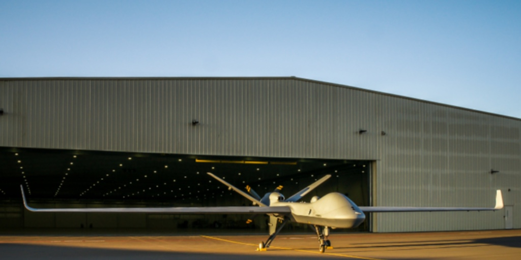 The first production representative @GenAtomics_ASI MQ-9B has taken its maiden flight in the USA.   To be known as Protector in RAF service our fleet will be based @RAFWaddington and operated by 31 Squadron, part of your #NextGenRAF https://t.co/yOuFMXPzu9