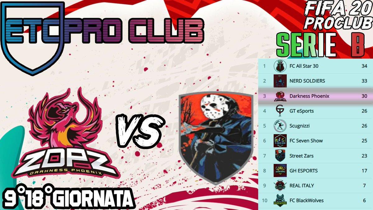 DarknessPhoenix VS Street Zars #ETC 9°Giornata 18°Giornata  Giornata che deciderà la promozione dei nostri ragazzi in #SerieA #ETC #fifa20 #fifa20ultimateteam #calcio #goal #ps4 #playstation #community #champions #zdpz #darknessphoenix #fifa20pic.twitter.com/KQhEbvYv6L