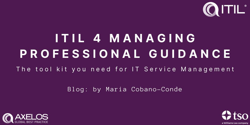 Blog revisited: @MariaCobano explains how the #ITIL4 Managing Professional range provides IT professionals with the ultimate toolkit to successfully navigate the modern digital world.   https://bit.ly/2uQBQkX  @AXELOS_GBP  #itsm #itmanagement #wfhtipspic.twitter.com/nhUgJQUz59